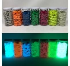 Piedras de Plástico Ovaladas de Colores 3x2 cm