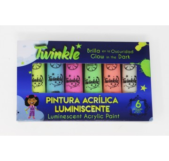 Pack de 6 peintures luminescentes - TWINKLE (22ml)