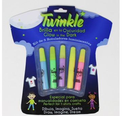 Pack de 5 peintures luminescentes - TWINKLE (10ml)