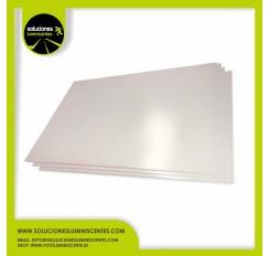 Placa de PVC MATE de 1 mm