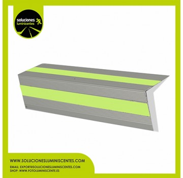 Aluminum Slip-Resistant Luminescent Profile, V-shaped
