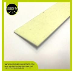 Perfil Plano Luminiscente Antideslizante de Aluminio 2,5cm