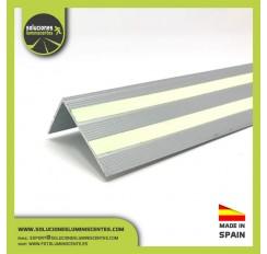 """Perfil Luminiscente - Antideslizante de Aluminio en """"L"""""""