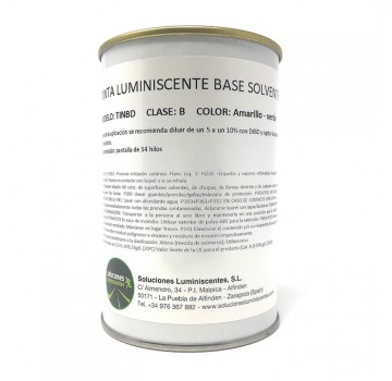 Tinta Luminiscente Base Solvente
