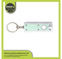 1 UV LED Squared Keychain