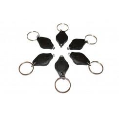Pack of 5 UV led keychains