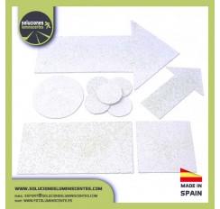 Pastillas termoplásticas con forma rectangular, 100X1000mm