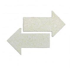 Comprimés thermoplastiquesen forme de flèche, 300X100mm