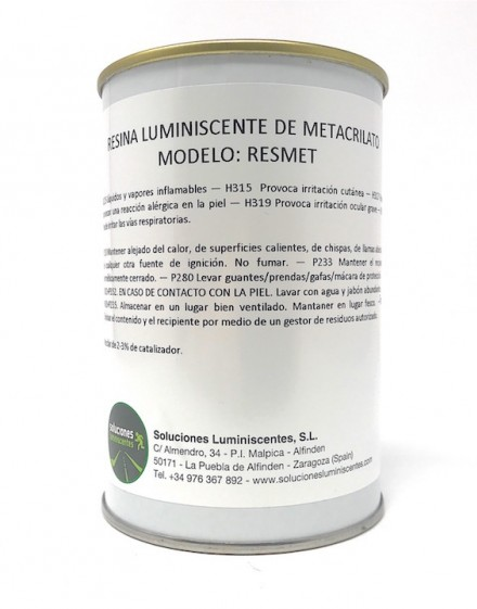 Luminescent Methacrylate Resin