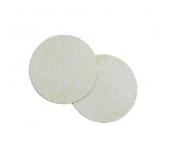 Pastillas termoplásticas con forma circular diámetro 100mm
