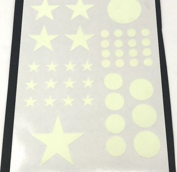 Luminescent Stickers of Different Shapes